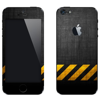 Виниловая наклейка «Опасная зона» на телефон Apple iPhone 5