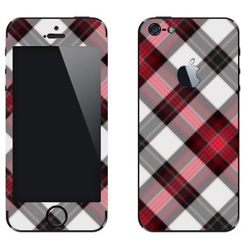 Виниловая наклейка «Плетение в клеточку» на телефон Apple iPhone 5