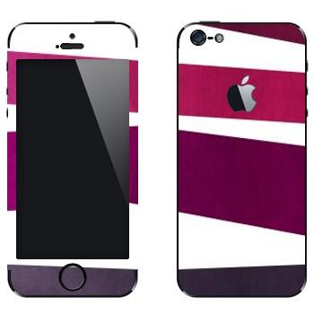 Виниловая наклейка «Пурпурная, фиолетовая, серая полосы» на телефон Apple iPhone 5