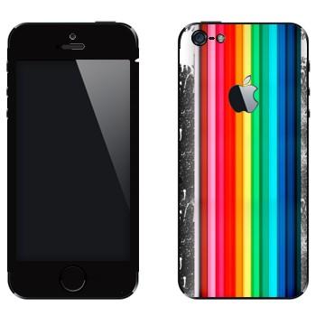 Виниловая наклейка «Радуга и пятна» на телефон Apple iPhone 5