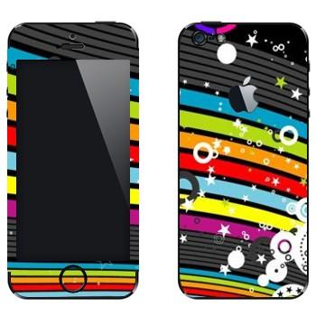 Виниловая наклейка «Радужная абстракция» на телефон Apple iPhone 5