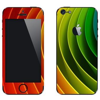 Виниловая наклейка «Радужная спиральная пружина» на телефон Apple iPhone 5