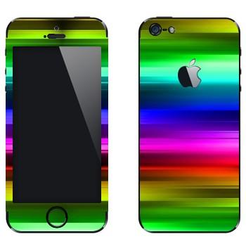 Виниловая наклейка «Радужное сияние» на телефон Apple iPhone 5