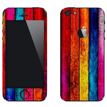 Виниловая наклейка «Радужные доски» на телефон Apple iPhone 5