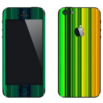 Виниловая наклейка «Радужные линии» на телефон Apple iPhone 5