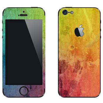 Виниловая наклейка «Радужный мираж» на телефон Apple iPhone 5