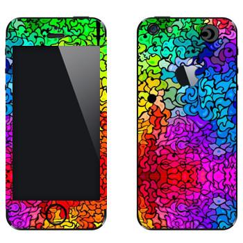 Виниловая наклейка «Радужный витраж» на телефон Apple iPhone 5