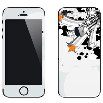 Виниловая наклейка «Разлетающиеся звезды» на телефон Apple iPhone 5