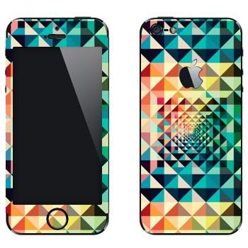 Виниловая наклейка «Разноцветная геометрия» на телефон Apple iPhone 5