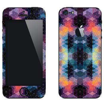 Виниловая наклейка «Разноцветные ромбики» на телефон Apple iPhone 5