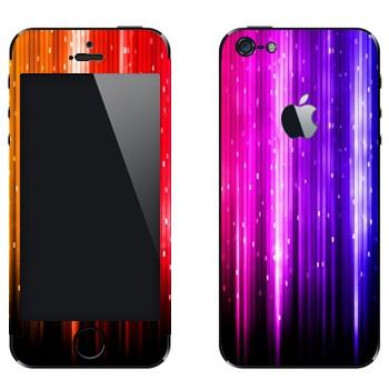 Виниловая наклейка «Разноцветный дождь» на телефон Apple iPhone 5