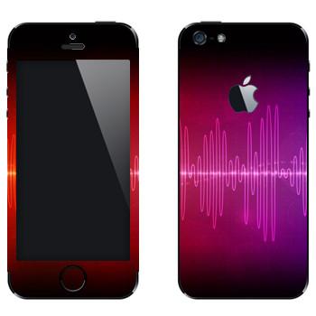 Виниловая наклейка «Разноцветный эквалайзер» на телефон Apple iPhone 5