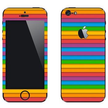Виниловая наклейка «Разноцветный сайдинг» на телефон Apple iPhone 5