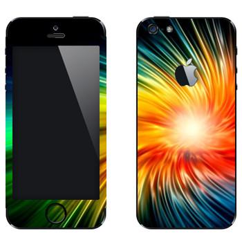 Виниловая наклейка «Разноцветный взрыв» на телефон Apple iPhone 5
