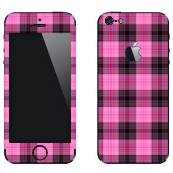 Виниловая наклейка «Розово-фиолетовая клетка» на телефон Apple iPhone 5