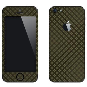 Виниловая наклейка «Серая клетка» на телефон Apple iPhone 5