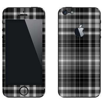 Виниловая наклейка «Серо-черные клеточки» на телефон Apple iPhone 5