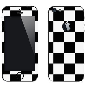 Виниловая наклейка «Шахматная клетка» на телефон Apple iPhone 5