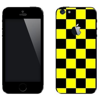Виниловая наклейка «Шашки для такси» на телефон Apple iPhone 5