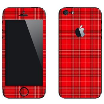 Виниловая наклейка «Шотландская клетка» на телефон Apple iPhone 5
