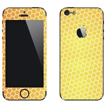 Виниловая наклейка «Соты пчелиные» на телефон Apple iPhone 5