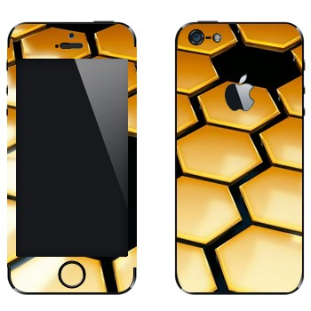 Виниловая наклейка «Соты техно стиль» на телефон Apple iPhone 5