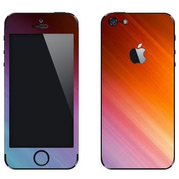 Виниловая наклейка «Струны цвета» на телефон Apple iPhone 5