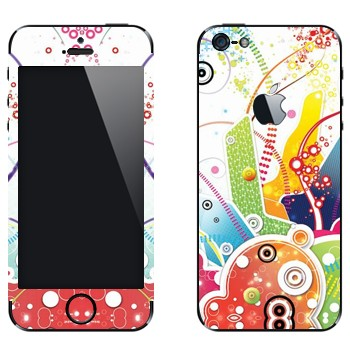 Виниловая наклейка «Цветная фантазия» на телефон Apple iPhone 5