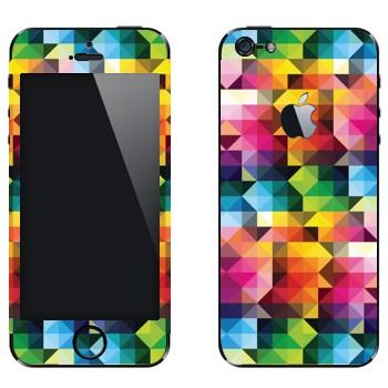 Виниловая наклейка «Цветная геометрия» на телефон Apple iPhone 5