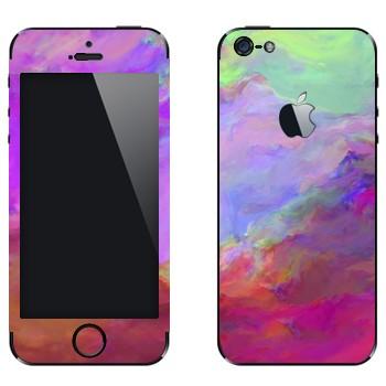 Виниловая наклейка «Цветные грозовые облака» на телефон Apple iPhone 5