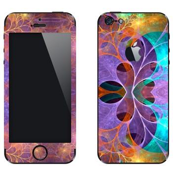 Виниловая наклейка «Цветочные фракталы» на телефон Apple iPhone 5