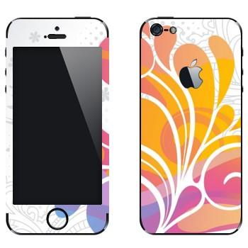 Виниловая наклейка «Цветок красочный» на телефон Apple iPhone 5