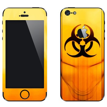 Виниловая наклейка «Значок Биологическая угроза» на телефон Apple iPhone 5