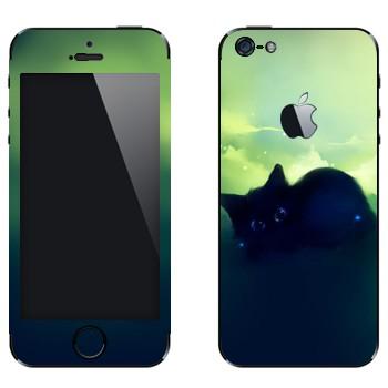 Виниловая наклейка «Черный котенок» на телефон Apple iPhone 5