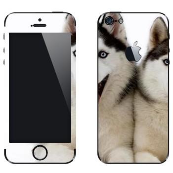 Виниловая наклейка «Две лайки» на телефон Apple iPhone 5