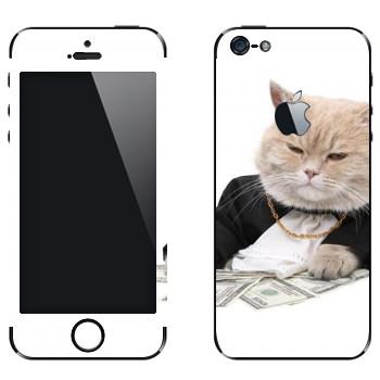 Виниловая наклейка «Котобосс» на телефон Apple iPhone 5