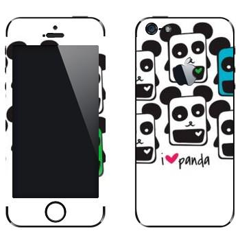 Виниловая наклейка «Квадратные панды» на телефон Apple iPhone 5