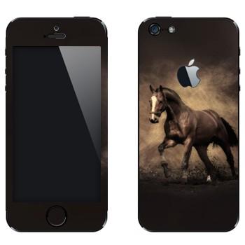Виниловая наклейка «Лошадь бежит рысью» на телефон Apple iPhone 5