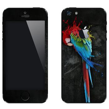 Виниловая наклейка «Попугай Ара» на телефон Apple iPhone 5