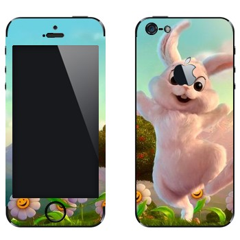 Виниловая наклейка «Розовый кролик» на телефон Apple iPhone 5