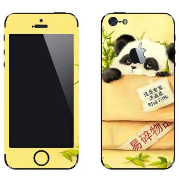 Виниловая наклейка «Сонная панда в коробке» на телефон Apple iPhone 5