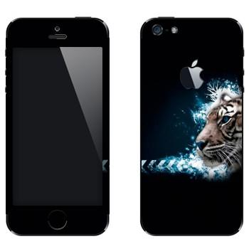 Виниловая наклейка «Тигр профиль» на телефон Apple iPhone 5