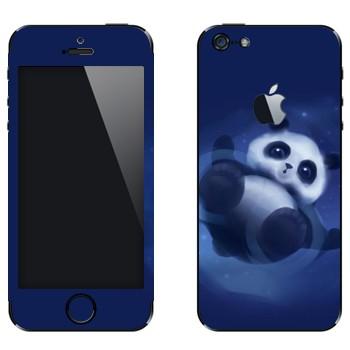 Виниловая наклейка «Забавная панда» на телефон Apple iPhone 5
