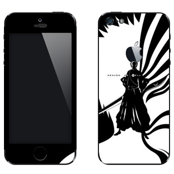 Виниловая наклейка «Bleach - Between Heaven or Hell» на телефон Apple iPhone 5