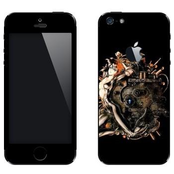 Виниловая наклейка «Ghost in the Shell» на телефон Apple iPhone 5