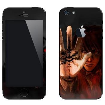 Виниловая наклейка «Hellsing» на телефон Apple iPhone 5