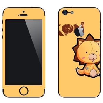 Виниловая наклейка «Kon - Bleach» на телефон Apple iPhone 5