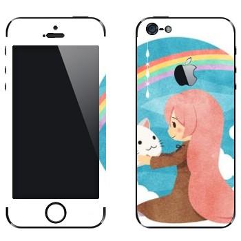 Виниловая наклейка «Megurine -Toeto - Vocaloid» на телефон Apple iPhone 5