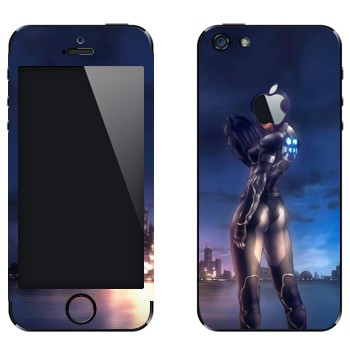 Виниловая наклейка «Motoko Kusanagi - Ghost in the Shell» на телефон Apple iPhone 5