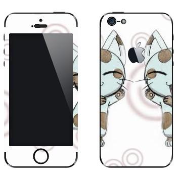 Виниловая наклейка «Neko - кот» на телефон Apple iPhone 5